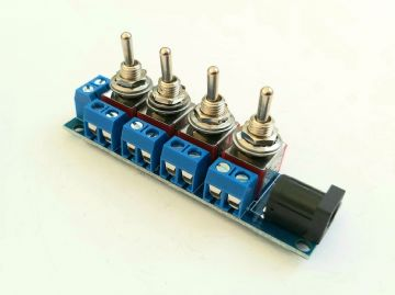 RKpdu5 DPDT Power Distribution Unit for Model Railway  - (ON) OFF (ON) DPDT Toggles Constructed